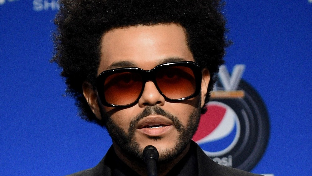 The Weeknd discussing the Super Bowl