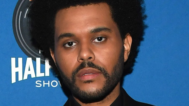 The Weeknd gazing in front
