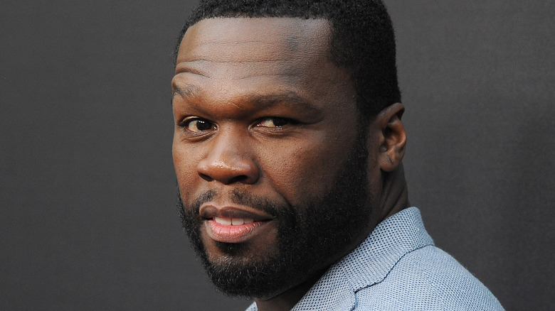 50 Cent smirking