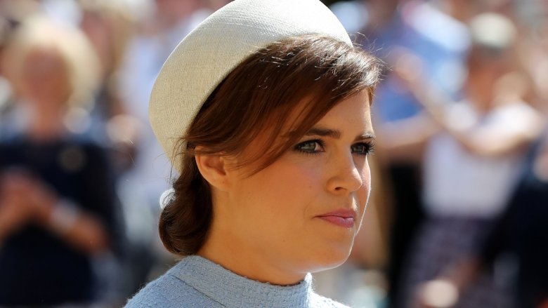Princess Eugenie arrives at Harry and Meghan Markle's wedding