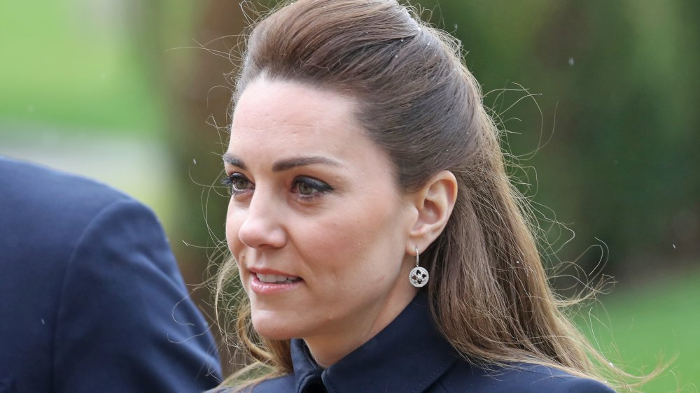 Catherine, Duchess of Cambridge arrives at the Defence Medical Rehabilitation Centre, Stanford Hall