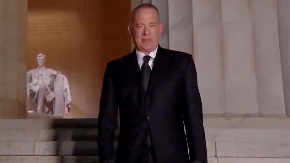 Tom Hanks at the Lincoln Memorial