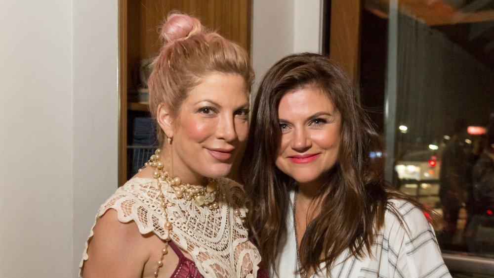 Tori Spelling and Tiffani Thiessen