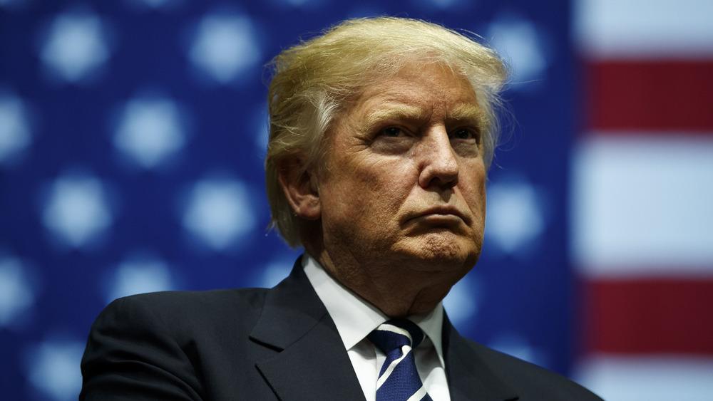 Donald Trump serious face