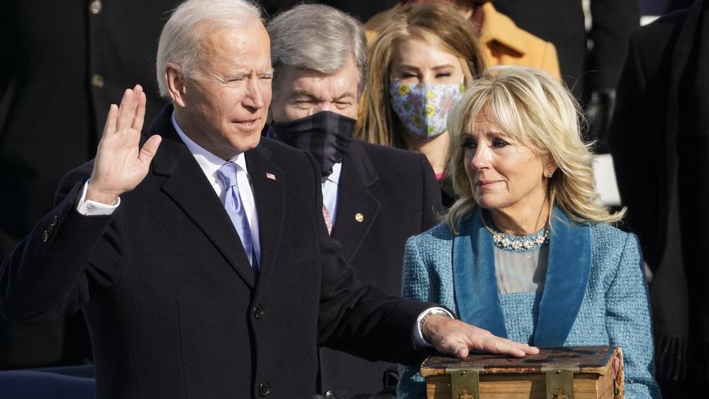 Joe Biden and Jill Biden at the Inauguration