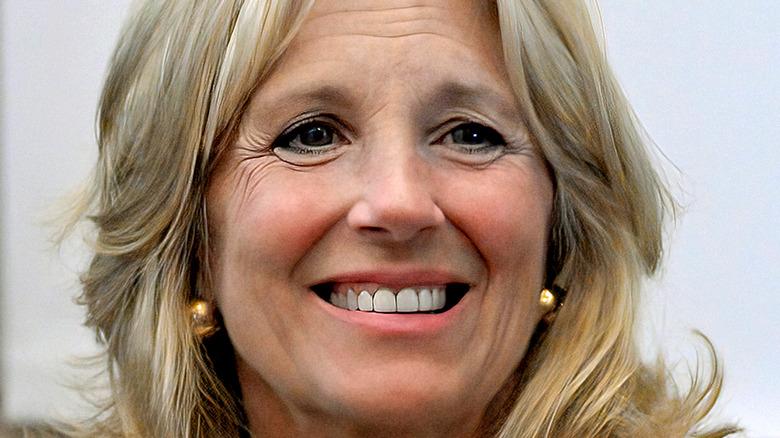 Jill Biden in taupe suit