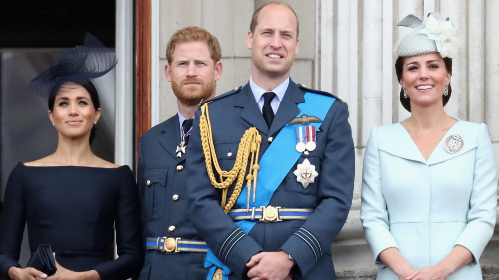 Prince William, Prince Harry, Kate Middleton and Meghan Markle