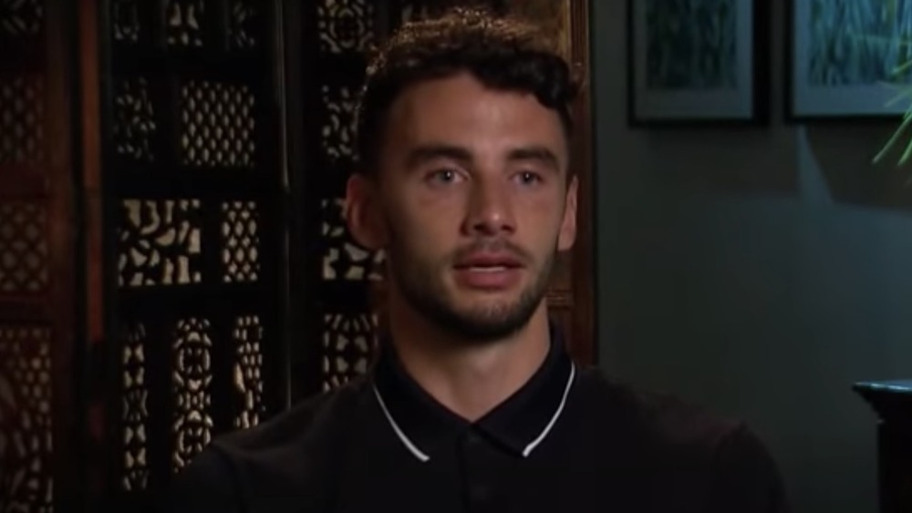 Brendan Morais speaking during confessional interview