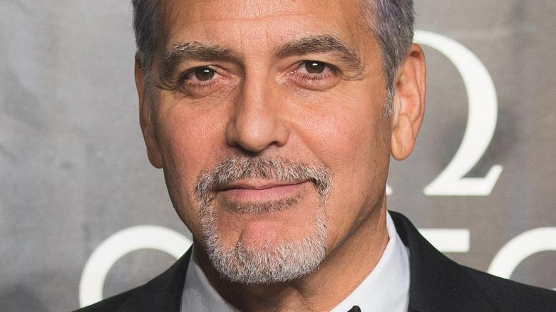 George Clooney smirking