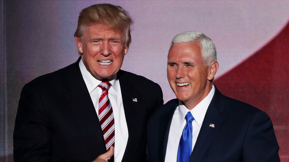 Donald Trump and Mike Pence smiling
