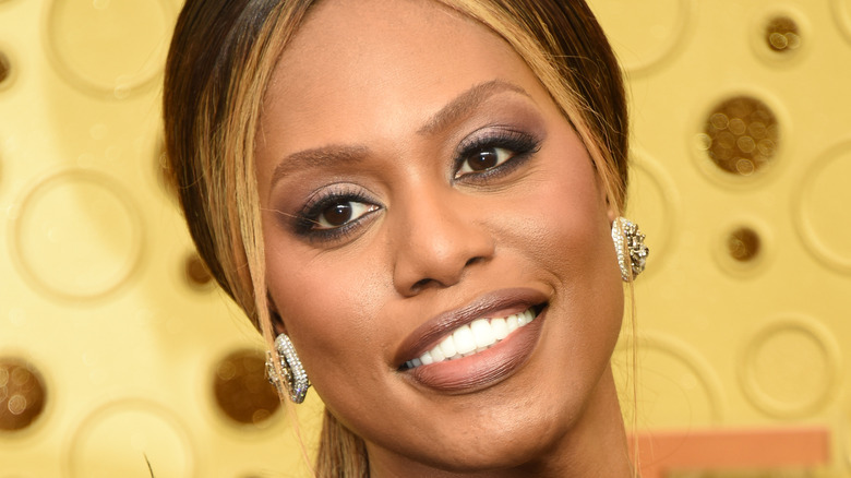 Laverne Cox on the Emmy red carpet