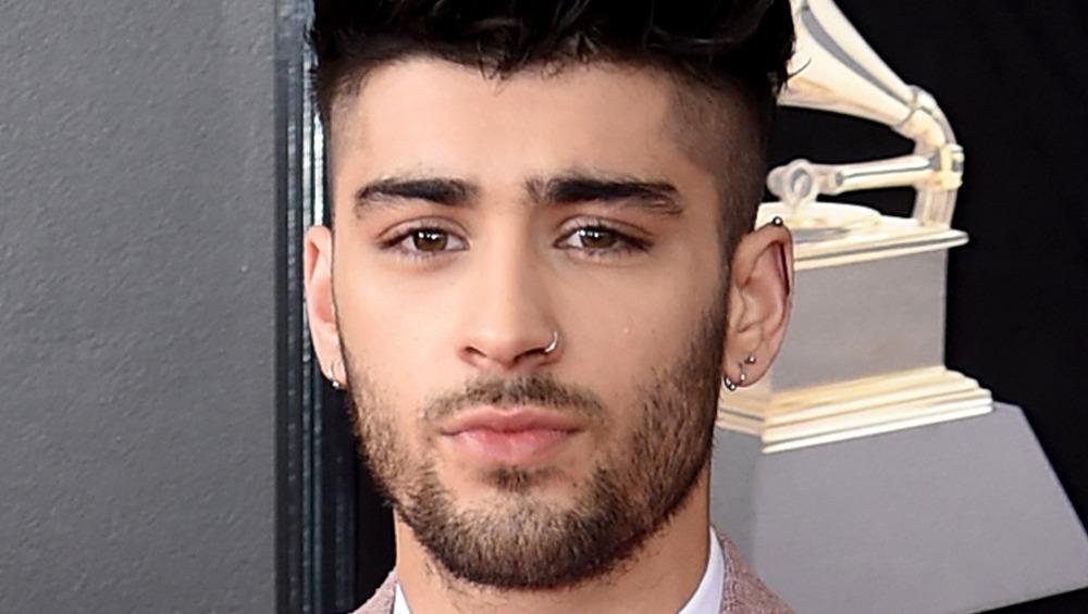 Zayn Malik on the Grammy Awards red carpet