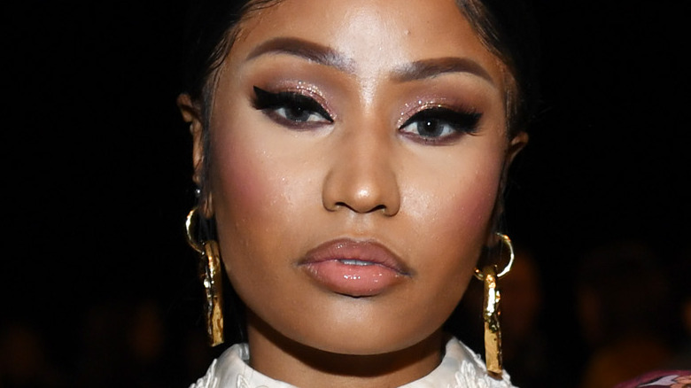 Nicki Minaj attends the Marc Jacobs Fall 2020 runway show during New York Fashion Week