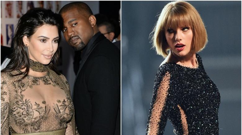 Kim Kardashian and Kanye West, Taylor Swift