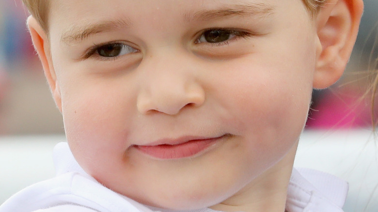 Prince George posing of for a photograph