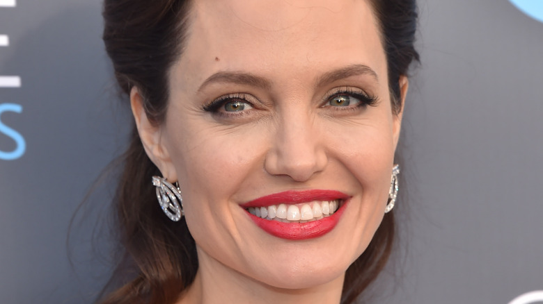 Angelina Jolie smiling on the red carpet