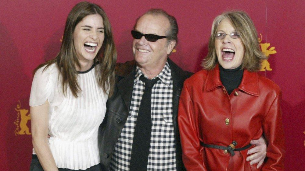 Amanda Peet, Jack NIcholson, and Diane Keaton at a photocall for Something's Gotta Give