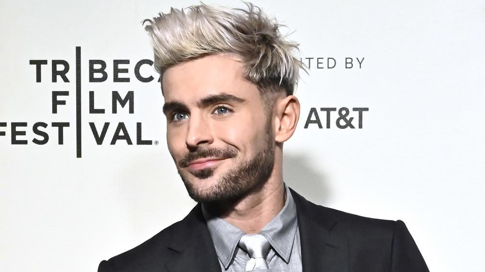 Zac Efron smiling at the 2019 Tribeca Film Festival