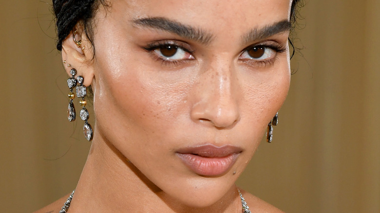 Zoë Kravitz attends The 2021 Met Gala Celebrating In America: A Lexicon Of Fashion at Metropolitan Museum of Art on September 13, 2021 in New York City.